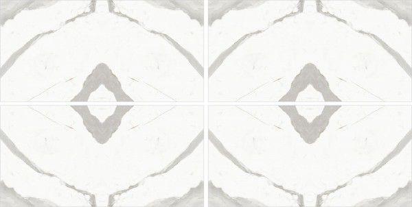 - 600 x 1200 mm(24 x 48インチ) - Statuario Taj  A-B